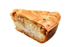 Pie with salmon fish Stock Photos
