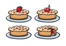 Pie set illustrations Stock Photo