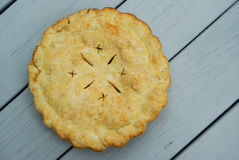 Pie Set Out to Cool. Freshly baked pie set out to cool on a deck Stock Image