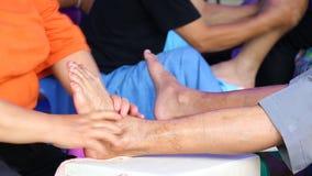 Pie simple del masaje de Tailandia Imagen de archivo