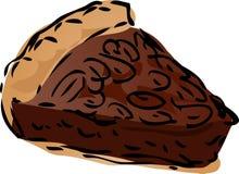 Pie sketch. Pecan dessert Pie, hand drawn retro illustration Stock Photos