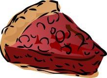 Pie sketch. Cherry dessert Pie, hand drawn retro illustration Royalty Free Stock Photography
