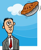 Pie in the sky saying cartoon stock illustration