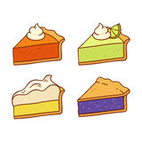 Pie slices set vector illustration