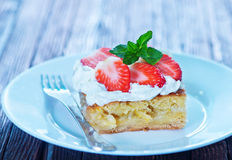 Pie with strawberry Royalty Free Stock Photography