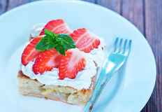 Pie with strawberry Royalty Free Stock Photo