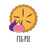 Pie with sweet filling. Vector illustration of homemade pies with fruit filling. great for bakery, pastry, confectionary menu design. good for homemade pies Stock Photos