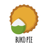 Pie with sweet filling Stock Images