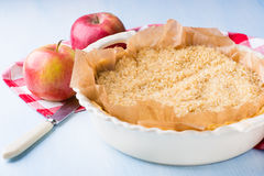 Pie or tart crust is ready for blind baking Stock Image