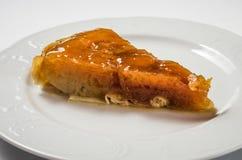 Pie Tatin apple stock image