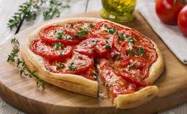 Pie with tomato tart Royalty Free Stock Photo