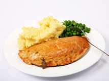 Pie and veg Stock Images