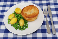 Pie and veg Royalty Free Stock Image