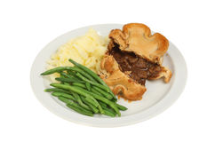 Pie and veg Royalty Free Stock Images