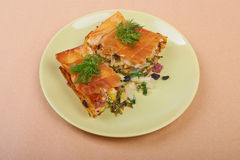Pie with vegetables Royalty Free Stock Images