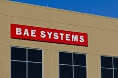 Pie Wayne, ADENTRO - circa diciembre de 2015: BAE Systems Manufacturing Facility Fotos de archivo libres de regalías