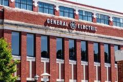Pie Wayne - circa junio de 2018: Fábrica anterior de la iluminación de General Electric Los problemas financieros han forzado GE  foto de archivo