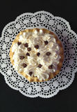 Pie with whipped cream and chocolate chips Royalty Free Stock Image