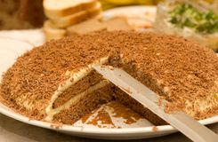 Pie With A Chocolate Crumb Stock Images