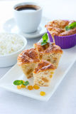 Pie With Cottage Cheese And Raisins Stock Images