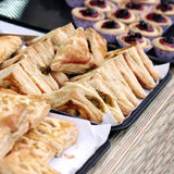 Pie on wood table , bakery Stock Images