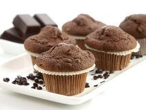 piec świezi muffins Zdjęcie Royalty Free