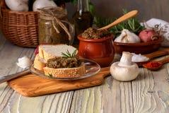 Piec, żywienioniowy, pieczarkowy kawior, zdjęcie stock