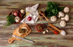 Piec, żywienioniowy, pieczarkowy kawior, zdjęcia stock