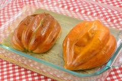 Piec acorn kabaczka połówki Fotografia Royalty Free
