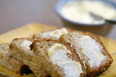 piec bananowy chleb świeżo Obrazy Stock