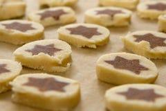 piec ciastka przygotowywających Obrazy Stock