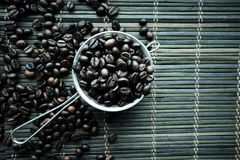 Piec coffe fasoli tekstura obrazy stock