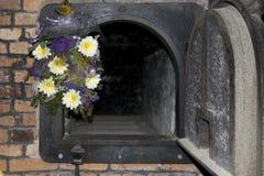 Piec do spalania w poprzednim śmiertelnym obozie Auschwitz Fotografia Stock