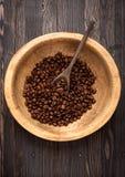Piec fasole kawowe Zdjęcia Stock