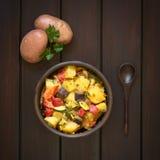 Piec gruli, Zucchini, oberżyny i pomidoru potrawka, Obraz Royalty Free