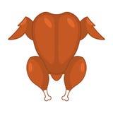 Piec indyka wierzchołka viwe odizolowywający Piec kurczak odizolowywający christ royalty ilustracja