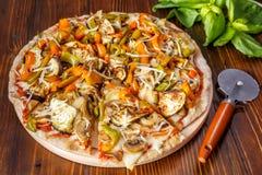 Piec Jarzynowa Cała Pszeniczna pizza fotografia royalty free