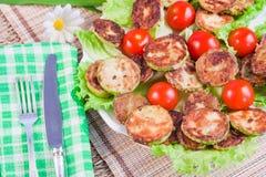 Piec jarzynowi szpik kostny z pomidorami Obraz Royalty Free
