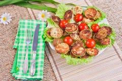 Piec jarzynowi szpik kostny z pomidorami Fotografia Stock
