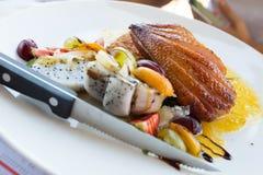 Piec kaczki klatki piersiowej stek Obrazy Royalty Free
