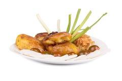 Piec kartoflany i minced kurczaka cutlet fotografia royalty free