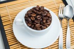 Piec kawowe fasole, mogą jest używać jako tło Obraz Royalty Free