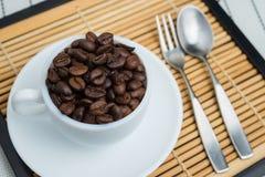 Piec kawowe fasole, mogą jest używać jako tło Obrazy Stock