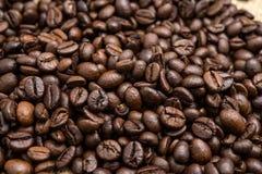 Piec kawowe fasole, mogą jest używać jako tło Zdjęcia Royalty Free