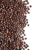 piec kawowe fasole na bielu Obrazy Stock