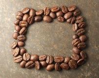 Piec kawowej fasoli rama Obrazy Stock