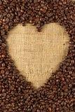 Piec kawowej fasoli tło Zdjęcie Royalty Free