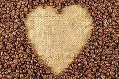 Piec kawowej fasoli tło Obrazy Stock