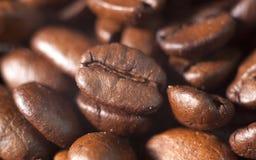 Piec kawowych fasoli zakończenie Fotografia Stock