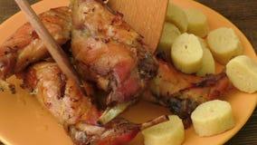 Piec królik klucha i mięso zbiory